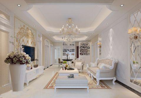 客厅茶几欧式装潢图片