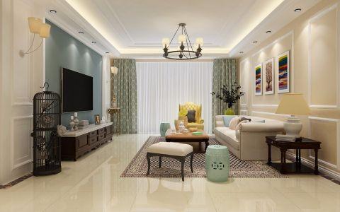美式风格165平米大户型新房装修效果图