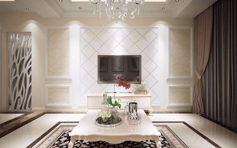 简欧风格86平米三室一厅新房装修效果图