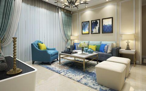 现代简约风格119平米三室两厅新房装修效果图