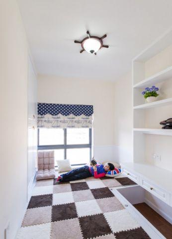 儿童房榻榻米美式风格装饰效果图