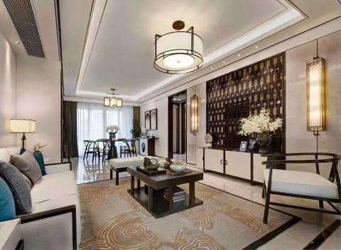 客厅沙发中式风格装潢设计图片