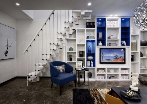 客厅楼梯简约风格装修设计图片