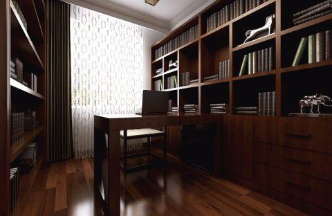 书房书桌中式风格装潢图片