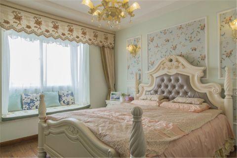 卧室床地中海风格装潢设计图片