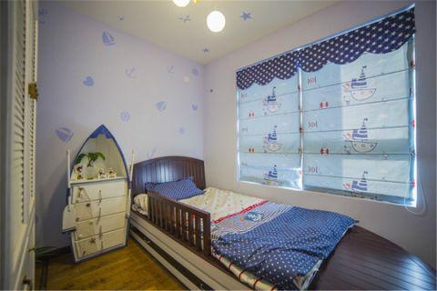 儿童房窗帘地中海风格效果图
