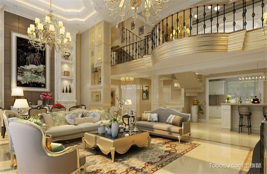 简欧风格250平米别墅新房装修效果图