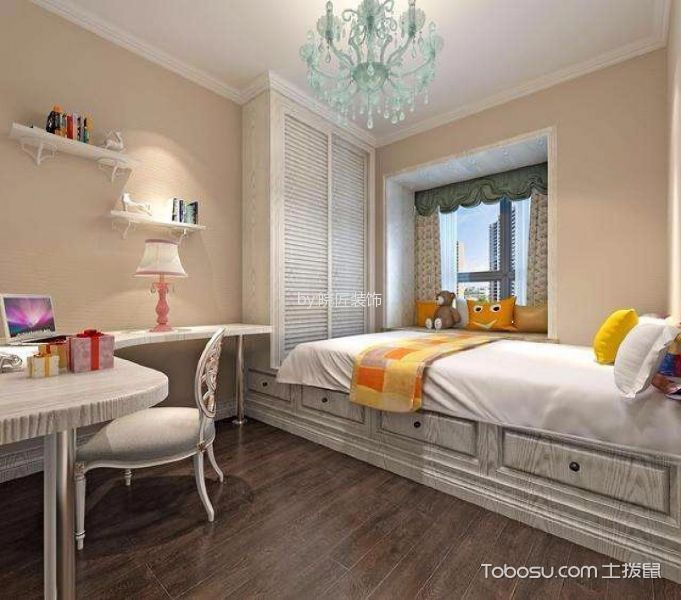 卧室白色榻榻米欧式风格装修效果图