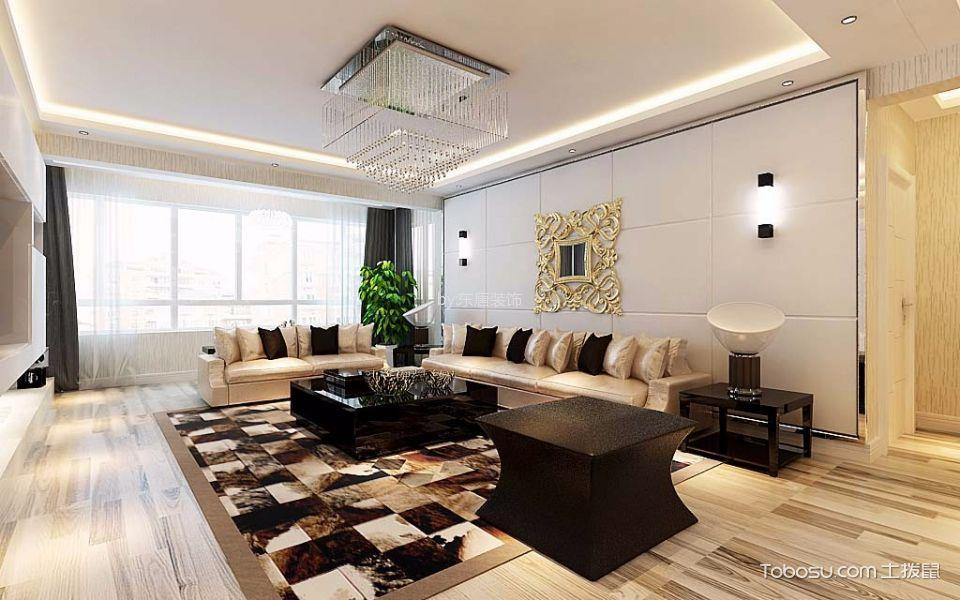 现代简约风格140平米楼房新房装修效果图
