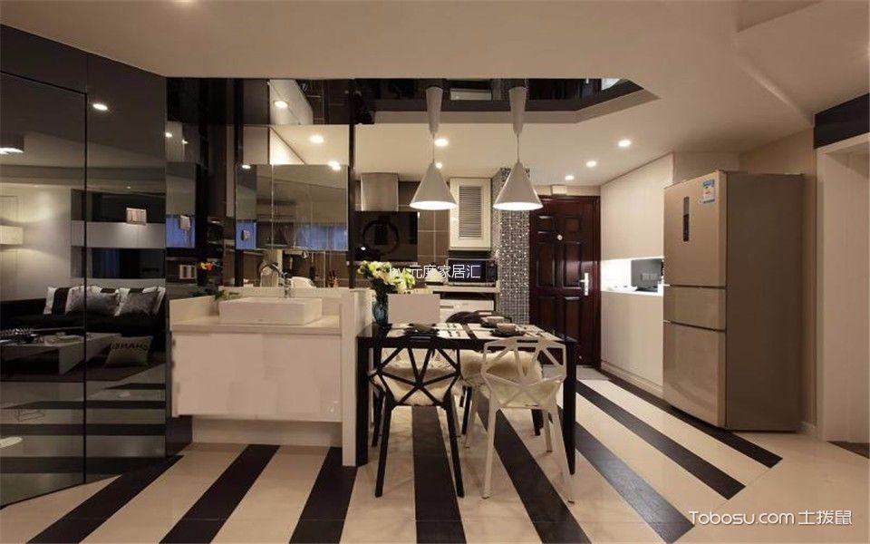 餐厅白色吊顶现代简约风格装修设计图片