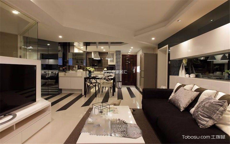 客厅白色茶几现代简约风格装饰设计图片
