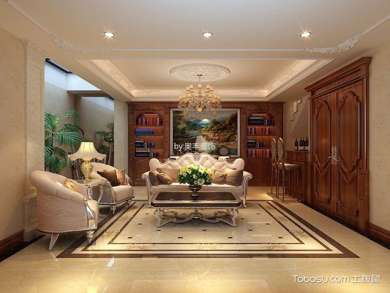 客厅黄色地砖简欧风格装修图片