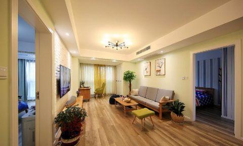 现代简约风格85平米三室两厅新房装修效果图