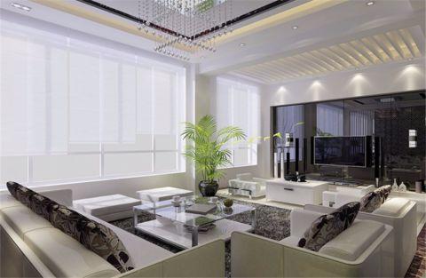 现代简约风格360平米别墅新房装修效果图
