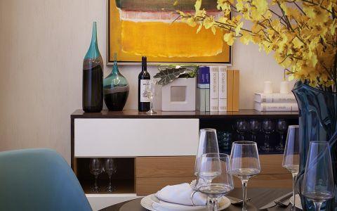餐厅咖啡色餐桌现代简约风格装修图片
