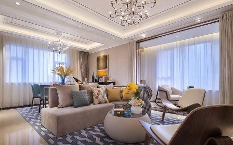 客厅白色窗帘现代简约风格装饰图片