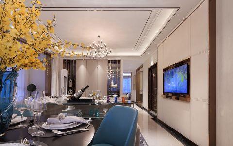 餐厅黄色吊顶现代简约风格装饰设计图片