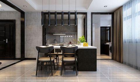 餐厅咖啡色窗帘现代风格装潢设计图片