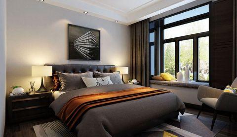 卧室黑色窗帘现代风格装修效果图