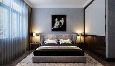卧室灰色床现代风格装饰效果图