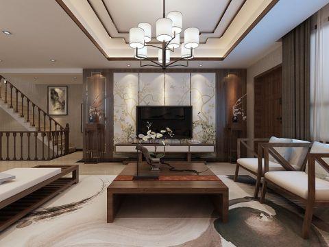 客厅窗帘简中风格装修设计图片