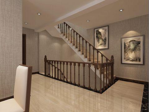 客厅楼梯简中风格装饰设计图片