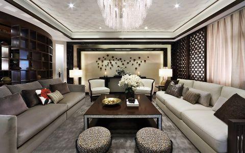 新中式风格240平米别墅新房装修效果图