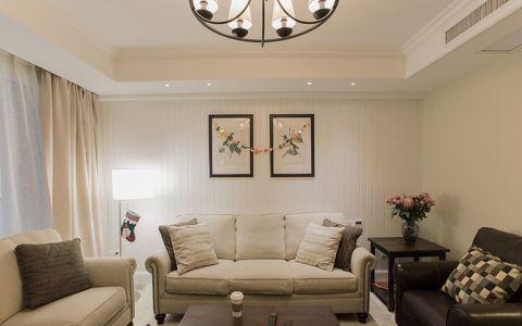 美式风格140平米大户型新房装修效果图
