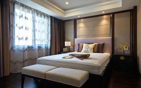 中式风格140平米大户型新房装修效果图