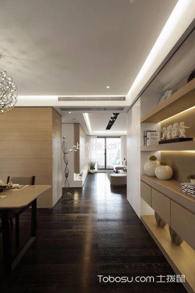 餐厅黑色走廊简约风格装修设计图片