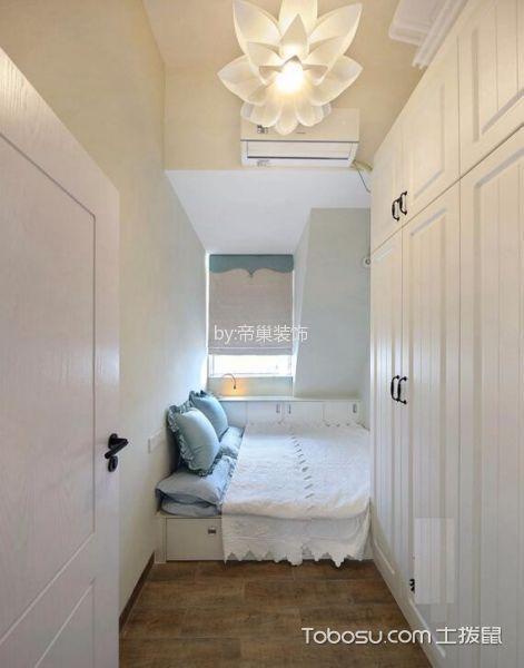 卧室咖啡色地板砖北欧风格装潢设计图片
