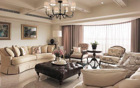 星河国际美式风格四居室装修效果图