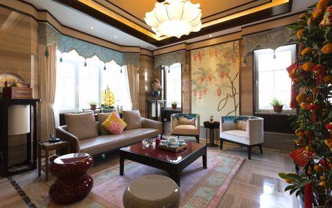 新中式风格290平米别墅新房装修效果图