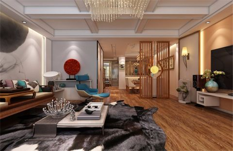 混搭风格280平米别墅新房装修效果图
