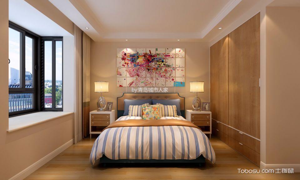 卧室橙色床头柜现代风格装饰图片