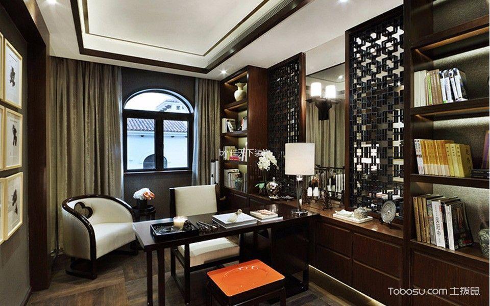 新中式风格130平米跃层新房装修效果图