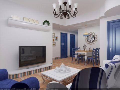 地中海风格80平米公寓新房装修效果图