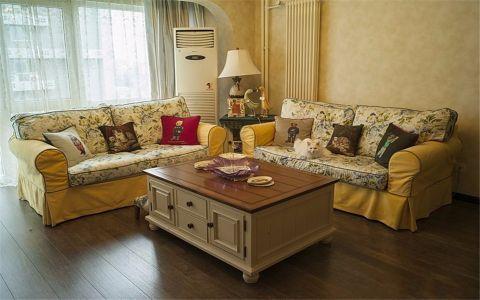 美式风格85平米三室两厅新房装修效果图