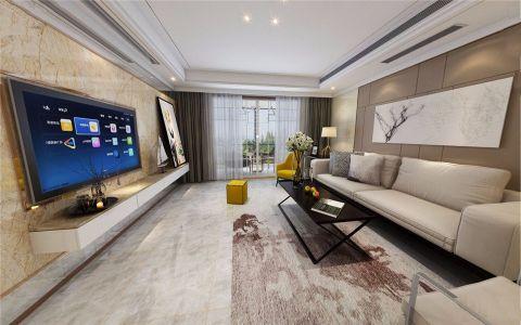 现代风格130平米套房室内装修效果图
