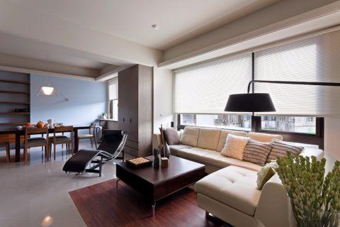 现代简约风格106平米两室两厅新房装修效果图