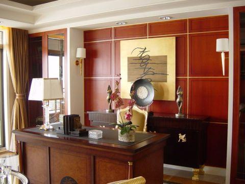 书房书桌欧式风格装饰图片