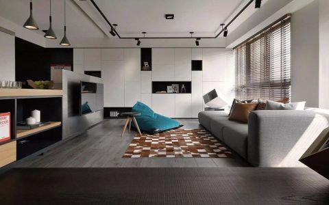 客厅地板砖现代简约风格装修图片