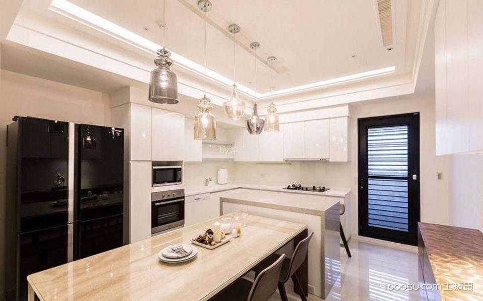 厨房白色吊顶简约风格装修图片
