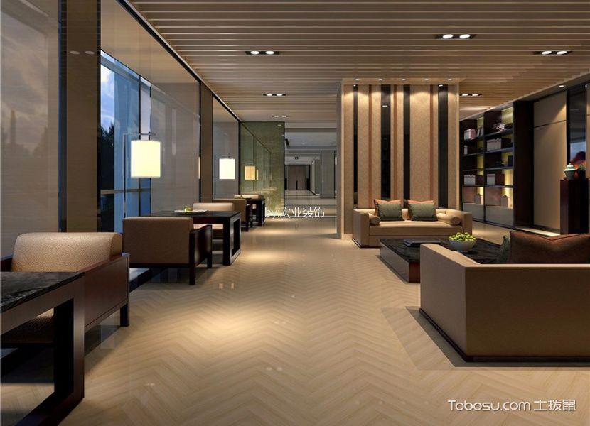 新中式风格精品酒店走廊装修实景图片