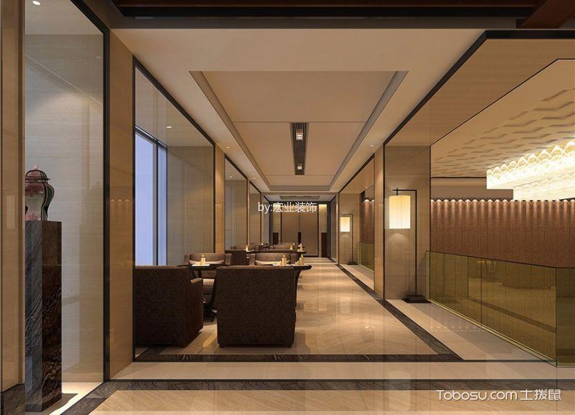 新中式风格精品酒店过道装修效果图欣赏