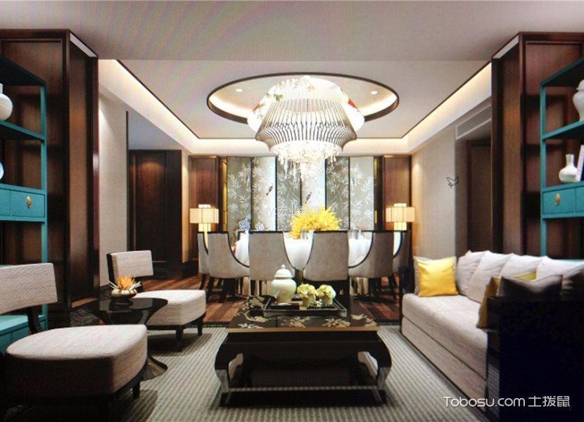 新中式风格精品酒店休息区设计图