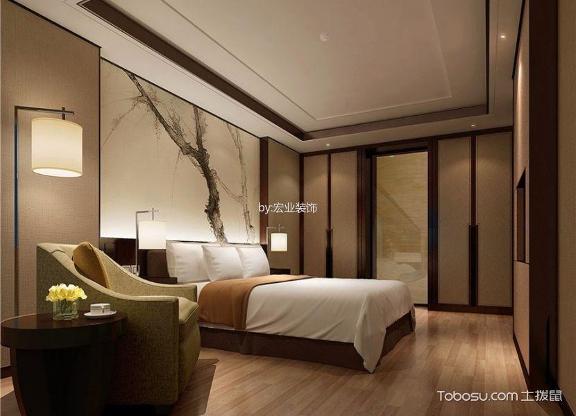 新中式风格精品酒店客房装潢图