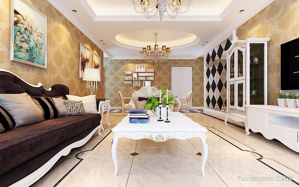 欧式风格115平米套房室内装修效果图