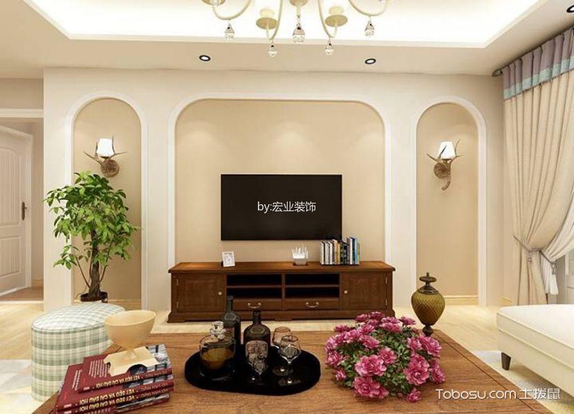 惠州金泰华府140平米美式风格效果图