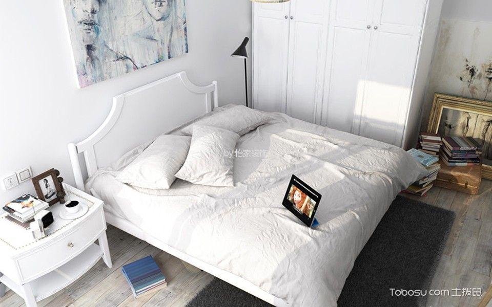 怡家装饰1室2厅1厨1卫52平米古典清新混搭风格